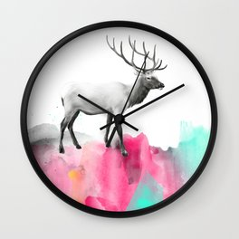 Wild No. 2 // Elk Wall Clock