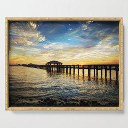 Biloxi Bay Sunset Serving Tray