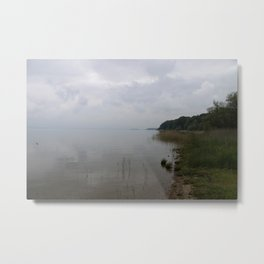 Moody Morning At The Lake Metal Print