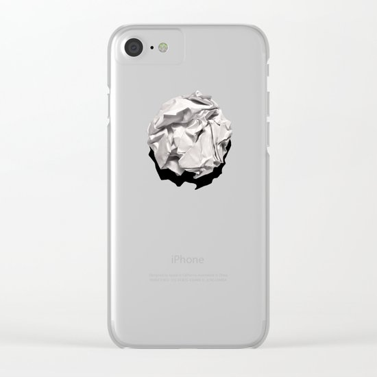 White Trash Clear iPhone Case