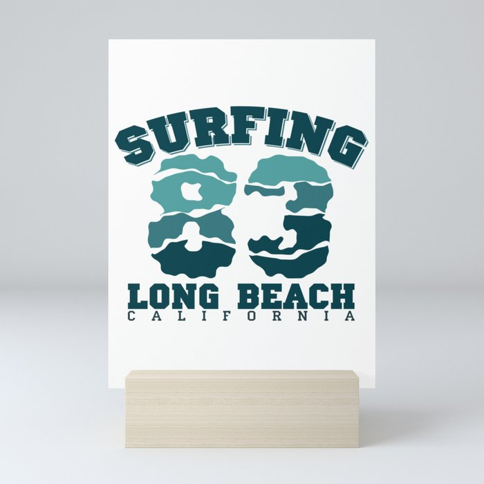 Long Beach California Surfing Gift Mini Art Print