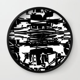 Black and White pattern. Wall Clock