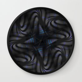 Carbon Waves Wall Clock