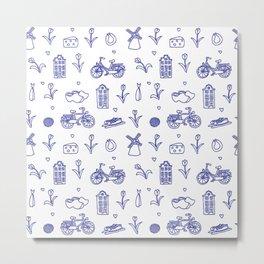 Seamless Holland pattern Metal Print