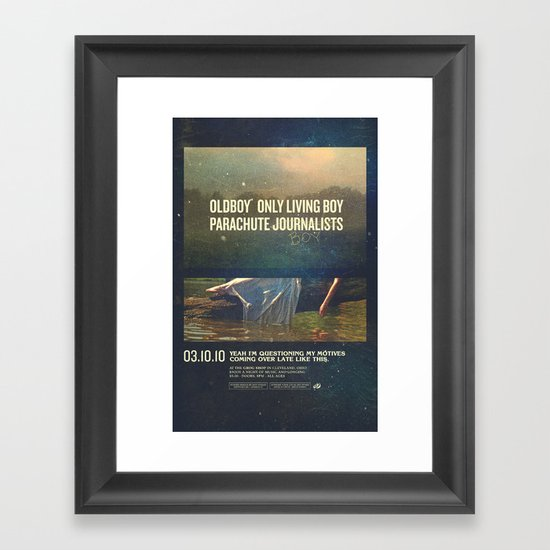 Parachute Journalists - Questioning My Motives Framed Art Print