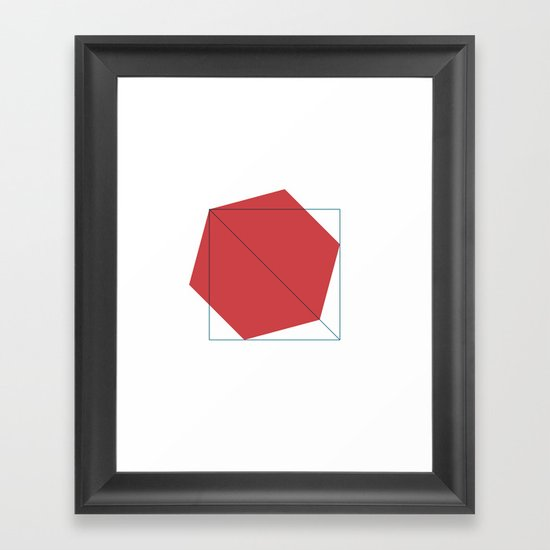 #403 Untitled – Geometry Daily Framed Art Print