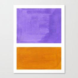 Minimalist Abstract Rothko Mid Century Modern Color Field Lavender Yellow Ochre Canvas Print