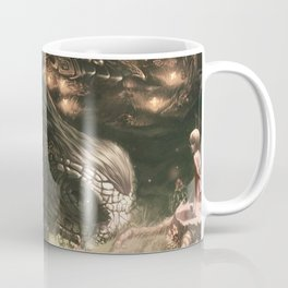 Little Girl and Her Dragon Coffee Mug