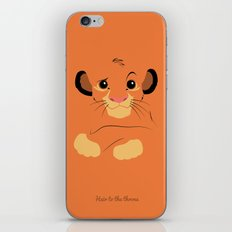 Heir to the throne iPhone & iPod Skin