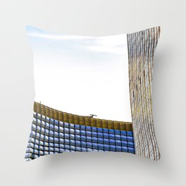 modern buildings with blue at Las Vegas, USA Throw Pillow