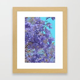 Purple and Blue Party! Framed Art Print