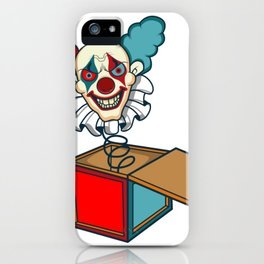 Clown Game Kids horror scared movie book gift iPhone Case