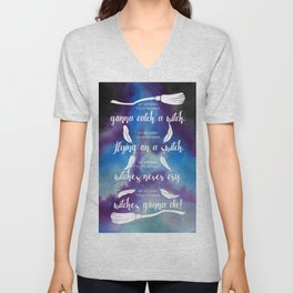 My momma, your momma, gonna catch a witch Unisex V-Neck