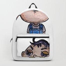 Eggplant Head Boy Backpack