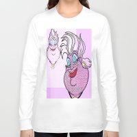 ursula Long Sleeve T-shirts featuring Ursula by grapeloverarts