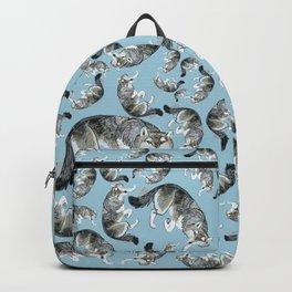 Totem Hokkaido grey wolf (Blue) Backpack