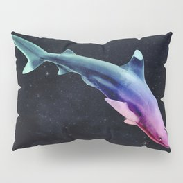 Colorful Space Shark Pillow Sham