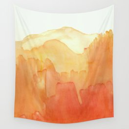 Orange Distance Wall Tapestry