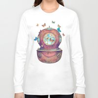french Long Sleeve T-shirts featuring Inner Space by Terry Fan