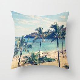 Hanauma Bay Throw Pillow