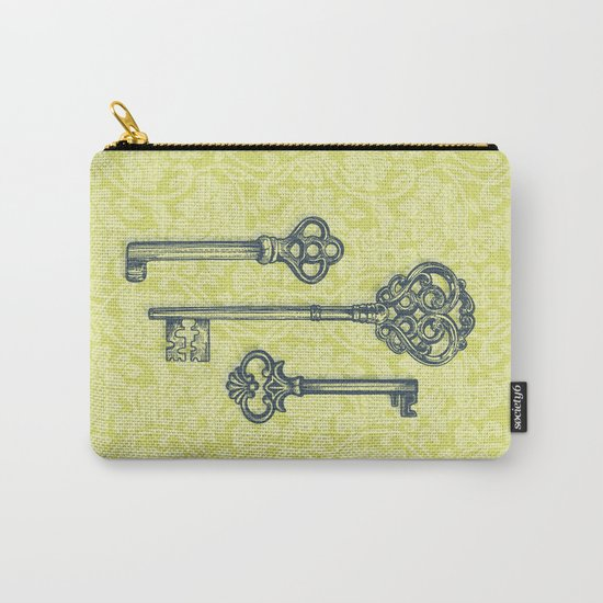 Three Skeleton Keys Carry-All Pouch