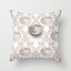 In which the moon frees itself  Throw Pillow