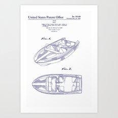 1961 California Boat Art Print
