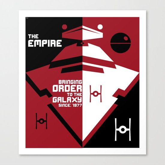 Order in the Galaxy Canvas Print