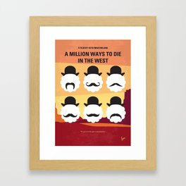 No890 My A Million Ways to Die in the West minimal movie poster Framed Art Print