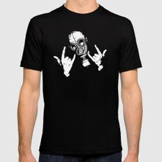 Devil Horns Black Mens Fitted Tee SMALL