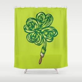 Clover - Make own luck Shower Curtain