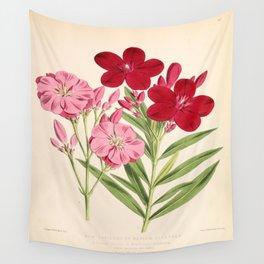 Nerium Oleander Vintage Scientific Floral Illustration Wall Tapestry