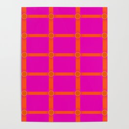 Alium 3 - Delayed Color Contrast Optical Illusion Grid Poster