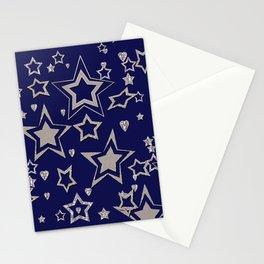 Holiday decor, shiny stars ,Christmas #Christmas #newyear Stationery Cards