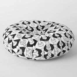 Isometric Chess WHITE Floor Pillow