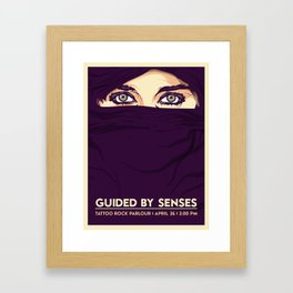GUIDED BY SENSES - FIRST EVER SHOW POSTER Framed Art Print