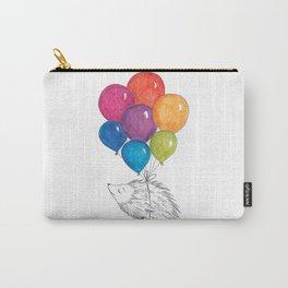 Soar - Rainbow Balloon Hedgehog Carry-All Pouch