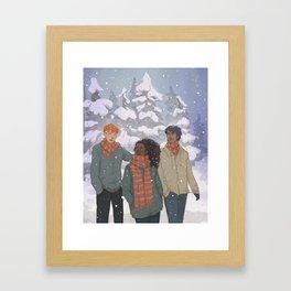 Golden Trio Framed Art Print