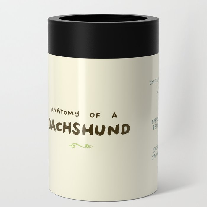Anatomy of a Dachshund Can Cooler