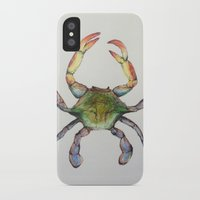 crab iPhone & iPod Cases featuring Crab by Sara Katy