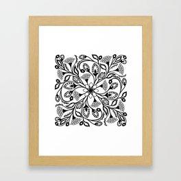 Intricate Floral Design Framed Art Print