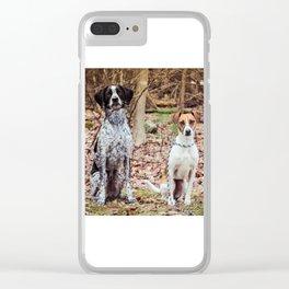 Kona and Sadie Clear iPhone Case