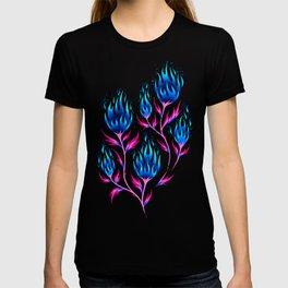 Fire Flower - Blue Pink T-shirt