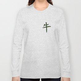 Chinese zodiac sign Ox green Long Sleeve T-shirt