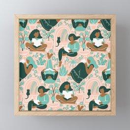Women Readers - Pattern Framed Mini Art Print