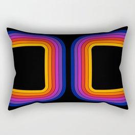 Black Rainbow Tunnel Rectangular Pillow