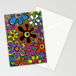 Floral Spin by Nettwork2Design - nettie heron-middleton Stationery Cards