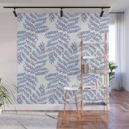 Fern Leaf - Blue Palette Wall Mural