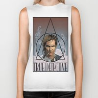true detective Biker Tanks featuring True Detective by Pop Vulture