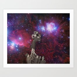 Nebular Kiss Art Print